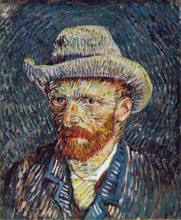 Self-Portrait - 1888 - Oil on canvas - 44 x 37.5 cm. - Van Gogh Museum, Amsterdam