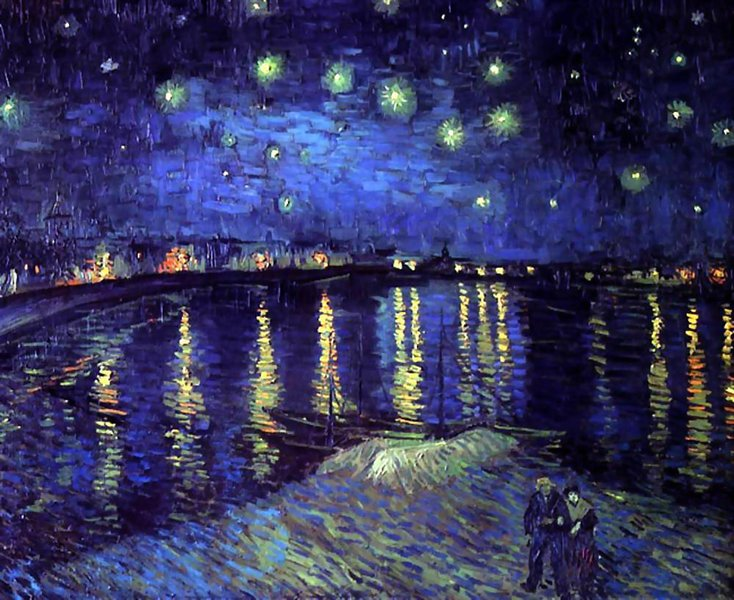 Starry Night Over the Rhone - 1888 - Oil on canvas 72.5 × 92 cm (28.5 × 36.2 in) Musée d'Orsay, París