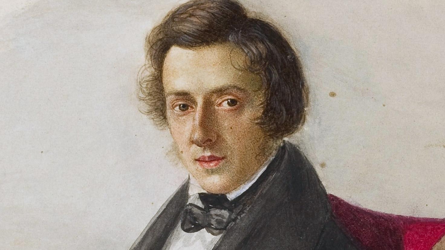 Chopin at 25, by his fiancée Maria Wodzińska, 1835