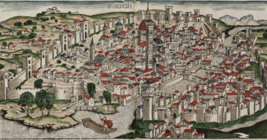 Colored woodcut town view of Florence by Hartmann Schedel. From the Nuremberg Chronicle in Latin edition published in 1493. Leaf number LXXXVII. Printed in Nuremberg by Anton Koberger in 1493. - By Bas van Hout (Own work) [CC BY-SA 4.0 (https://creativecommons.org/licenses/by-sa/4.0)], via Wikimedia Commons