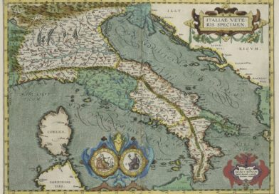 Map of ancient Italy by Abraham Ortelius. Theatrum Orbis Terrarum. London, 1606 (i.e. 1608?). Plate xviii. - Folger Shakespeare Library [Public domain or CC BY-SA 4.0 (https://creativecommons.org/licenses/by-sa/4.0)], via Wikimedia Commons