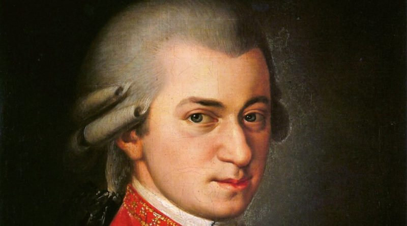 Wolfgang Amadeus Mozart - Posthumous painting by Barbara Krafft in 1819