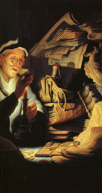 The Rich Old Man from the Parable - detail - 1627 - Oil on wood - Gemäldegalerie - Berlin