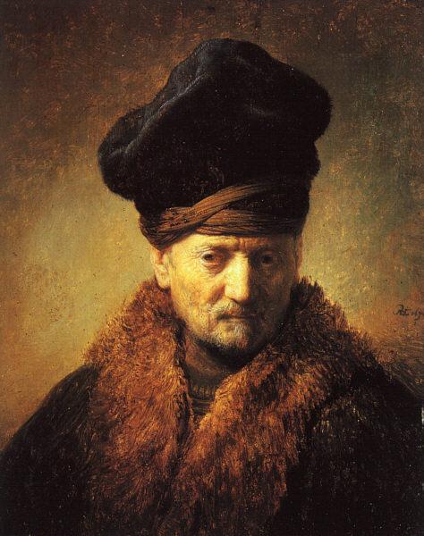 Bust of an Old Man in a Fur Cap - 1630 - Oil on wood - Tiroler Landesmuseum Ferdinandeum - Innsbruck