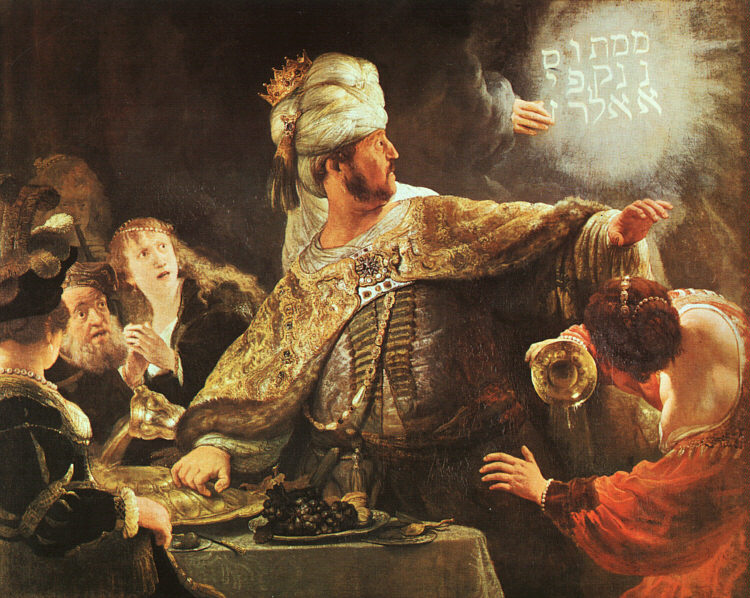 Belshazzar's Feast - 1630-35 - Oil - National Gallery at London