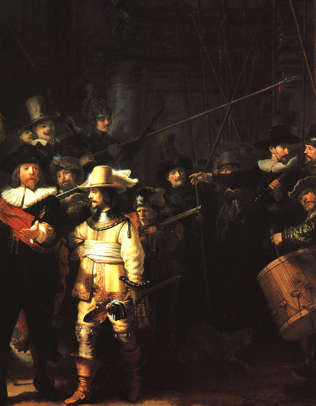 The Company of Frans Banning Cocq Preparing to March (The Night Watch) - Detail - 1642 - Oil on canvas - Rijksmuseum at Amsterdam