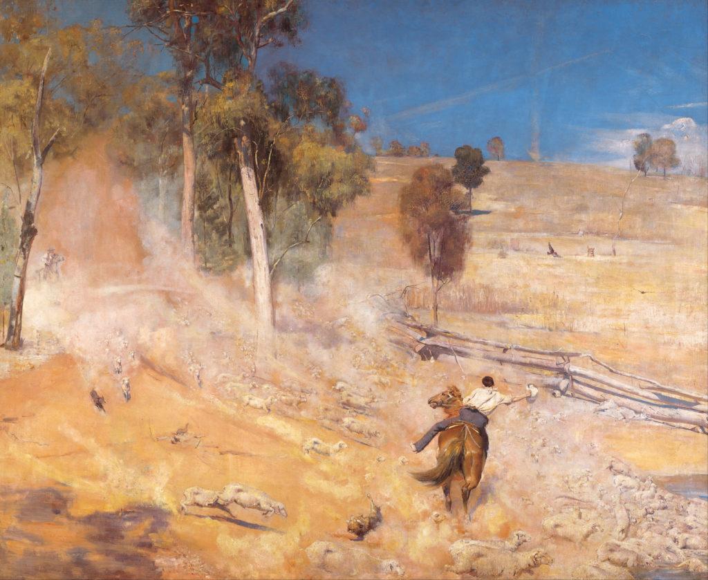 A break away! (1891) - Height: 137.30 mm (5.40 in); Width: 167.80 mm (6.60 in)
