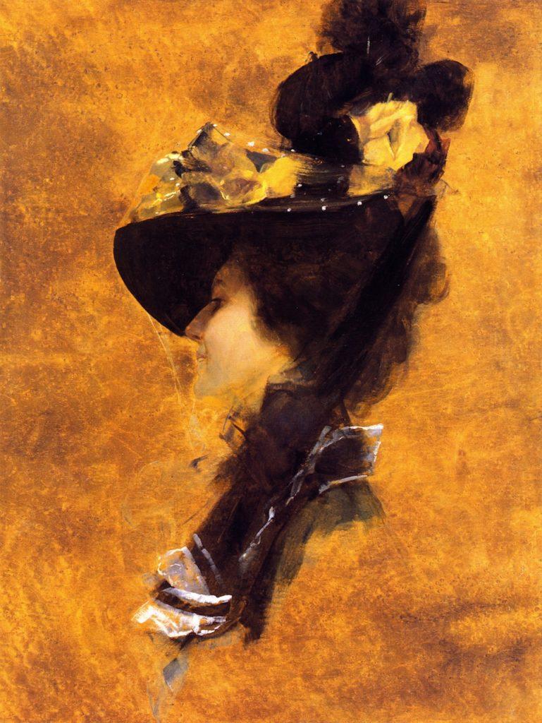Frances Ross, actress (circa 1898) - 62.3 x 47.0 cm board; 82.0 x 69.0 x 4.0 cm frame