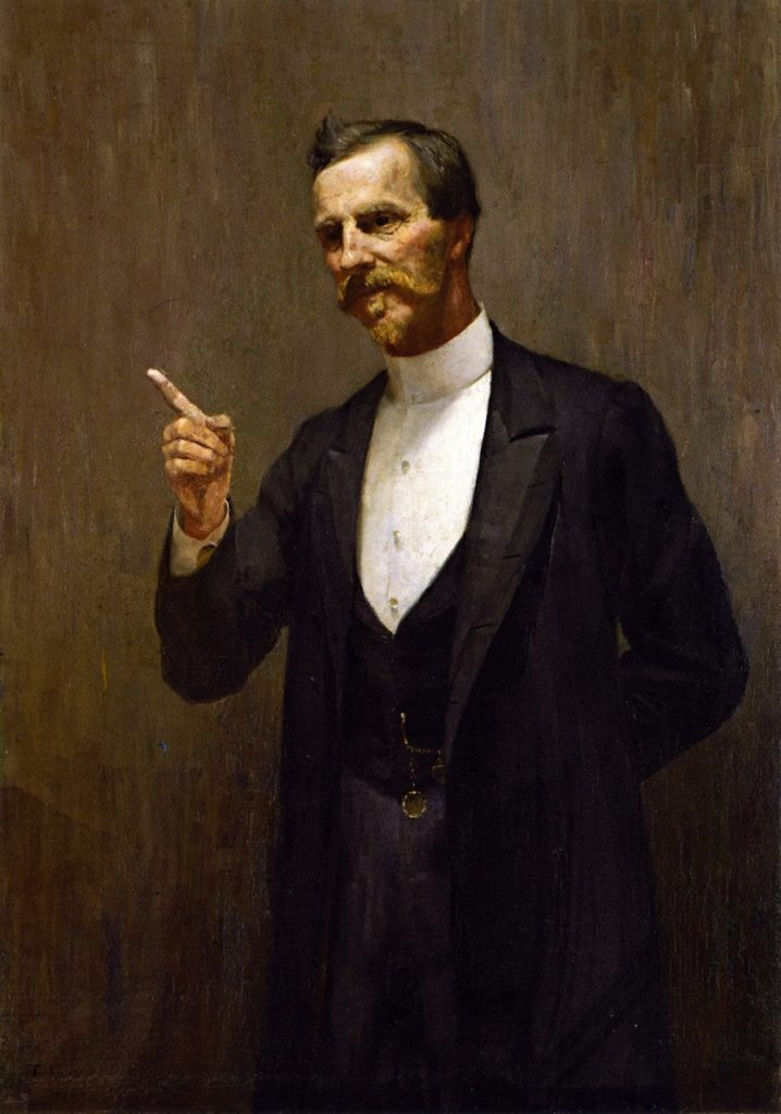 The Hon. Dr. L. I. Smith (1890) - Height: 117.2 cm (46.14 in.), Width: 82 cm (32.28 in.)