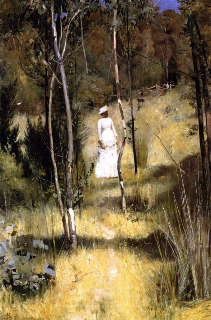 A Summer Morning (1886) - Height: 76.5 cm (30.12 in.), Width: 51.2 cm (20.16 in.)