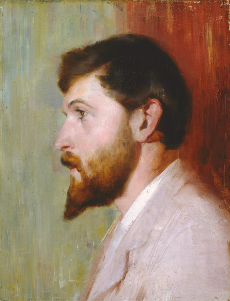 Smike Streeton age 24 (1891) - Height: 45.7 cm (17.99 in.), Width: 35.7 cm (14.06 in.)