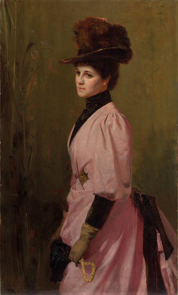 An Australian Native (1888) - Portrait of a lady - 27.2 × 76.2 cm (10.7 × 30 in)