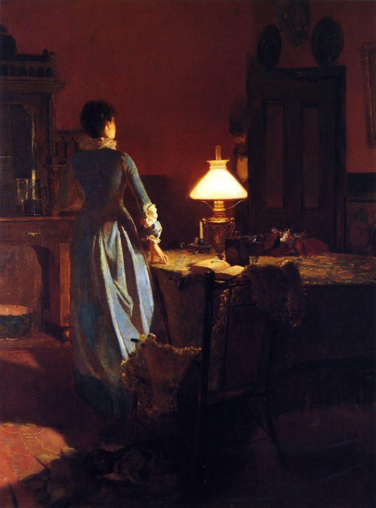 Twenty Minutes Past Three (1886) - Height: 100 cm (39.37 in.), Width: 74.3 cm (29.25 in.)