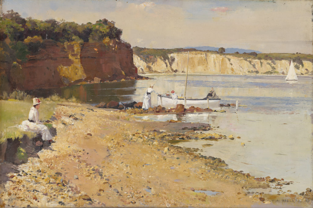 Slumbering Sea, Mentone (1887) - Height: 51.3 cm (20.2 in.), Width: 76.5 cm (30.12 in.)