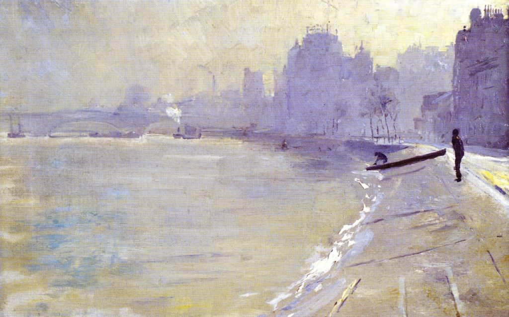 The Towpath, Putney (1904) - Height: 24.2 cm (9.53 in.), Width: 39.5 cm (15.55 in.)