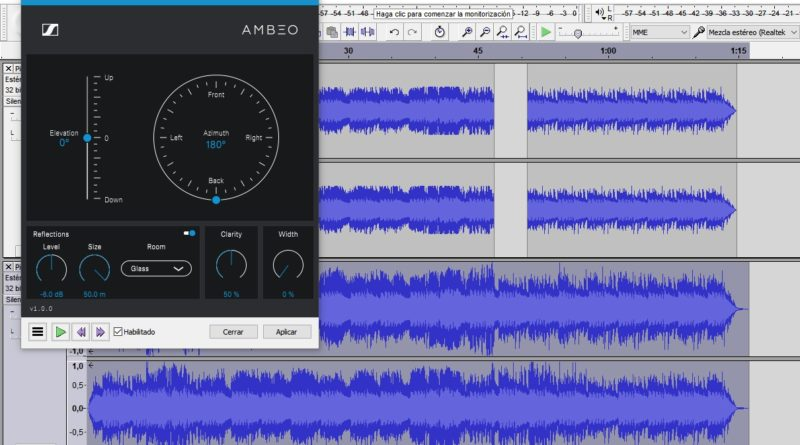 Make 8D songs with Audacity and Ambeo Orbit (free software)