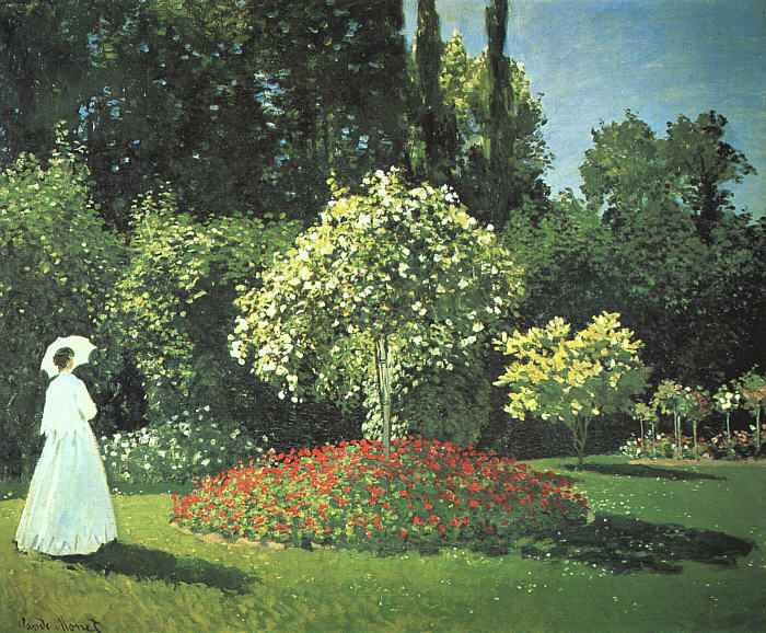 Jeanne-Marguerite Lecadre in the Garden - 1866 - Oil on canvas - The Hermitage, St. Petersburg