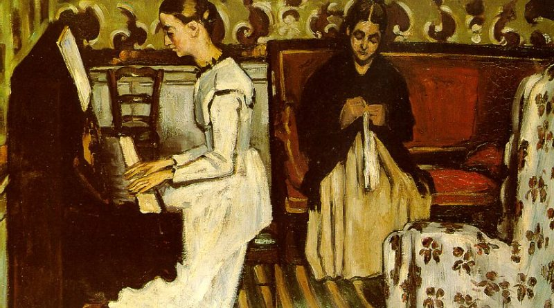 Girl at the Piano (Ouverture to Tannhäuser) - 1869 - Oil on canvas - The Hermitage - St. Petersburg