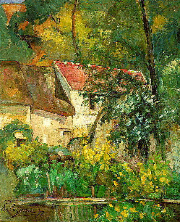 The House of Père Lacroix in Auvers - 1873 - Oil on canvas - National Gallery of Art - Washington D.C.