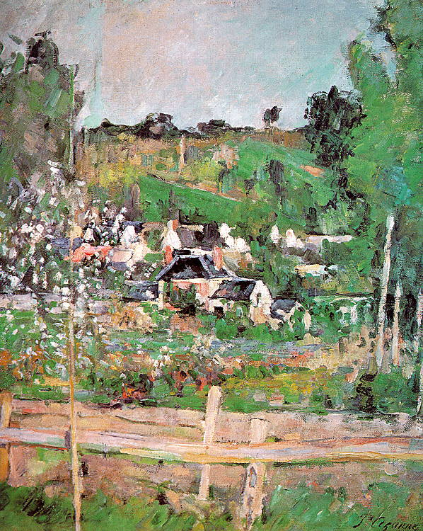 View of Auvers-sur-Oise (The Fence) - 1873 - Oil on canvas - Private collection