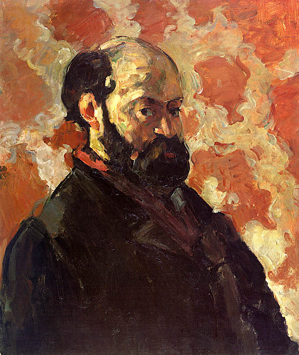 Self-Portrait on a Rose Background - 1877 - Oil on canvas - Galerie Beyeler - Basle