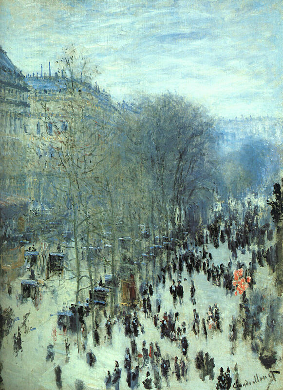 Boulevard des Capucines - 1873 - Oil on canvas - The Nelson-Atkins Museum of Art, Kansas