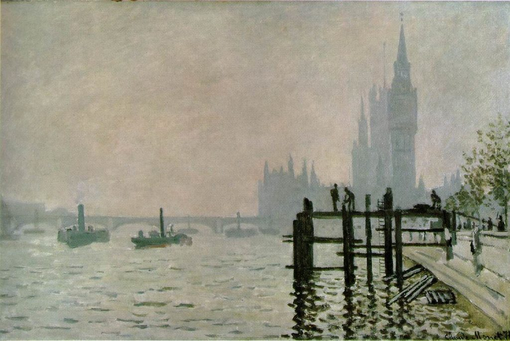 The Thames at Westminster - 1871 - Oil on canvas - National Gallery, London