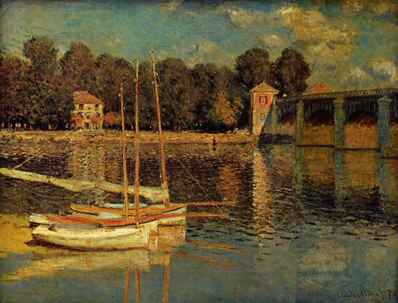 The Bridge at Argenteuil - 1874 - Oil on canvas - Musée d'Orsay, Paris