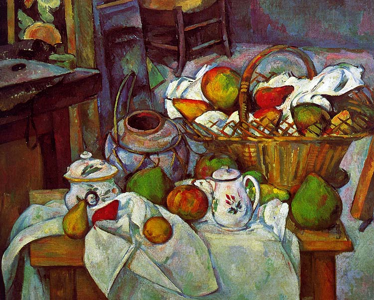 Vessels - Basket and Fruit (The Kitchen Table) - 1888-90 - Oil on canvas - Musée d'Orsay - Paris