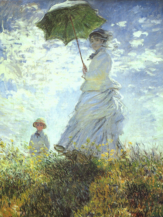 Woman with a Parasol - 1875 - Oil on canvas - National Gallery of Art, Washington