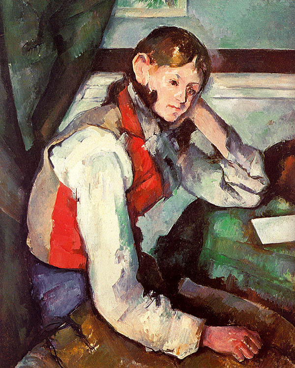 Boy in a Red Waistcoat - 1890-95 - Oil on canvas - Stiftung Sammlung E.G. Bührle - Zurich