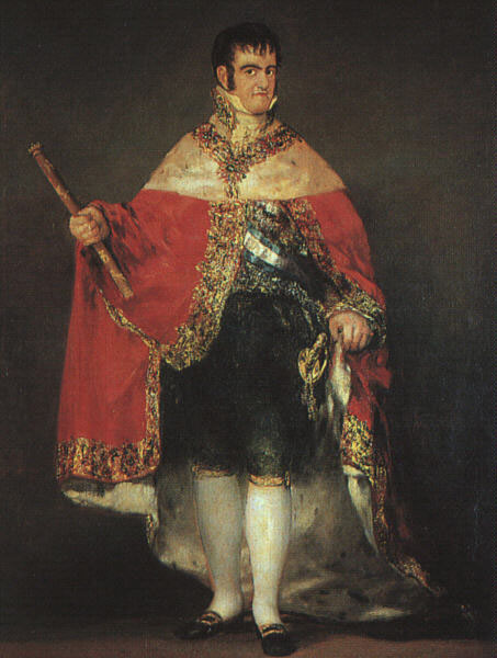Ferdinand VII in his Robes of State
