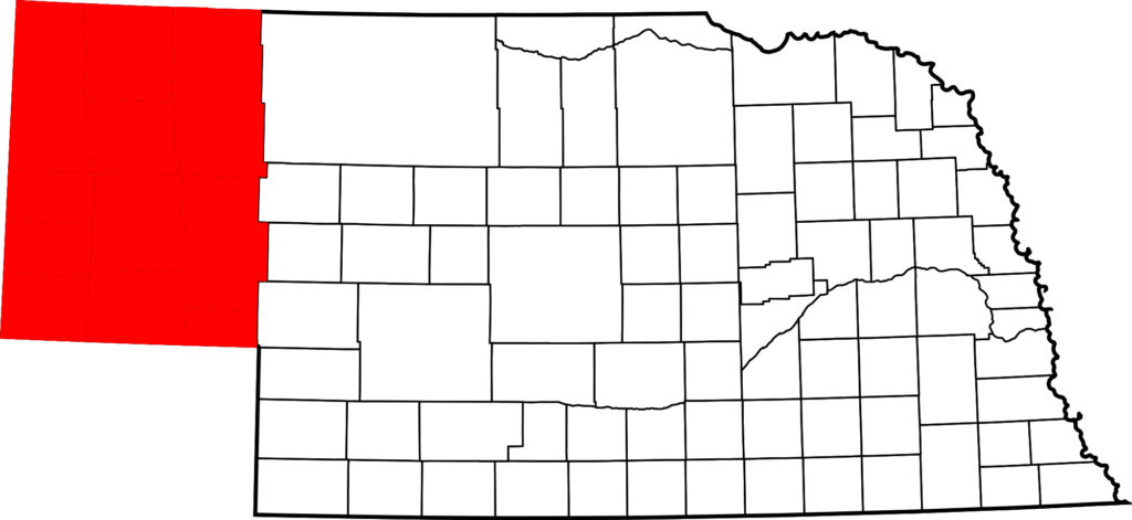 Where was The Ballad of Buster Scruggs filmed? - Map of Nebraska highlighting Panhandle. Bkell [Public domain], via Wikimedia Commons