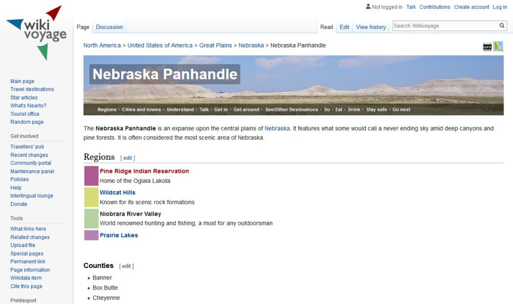 Wikivoyage - Nebraska Panhandle - Travel Guide