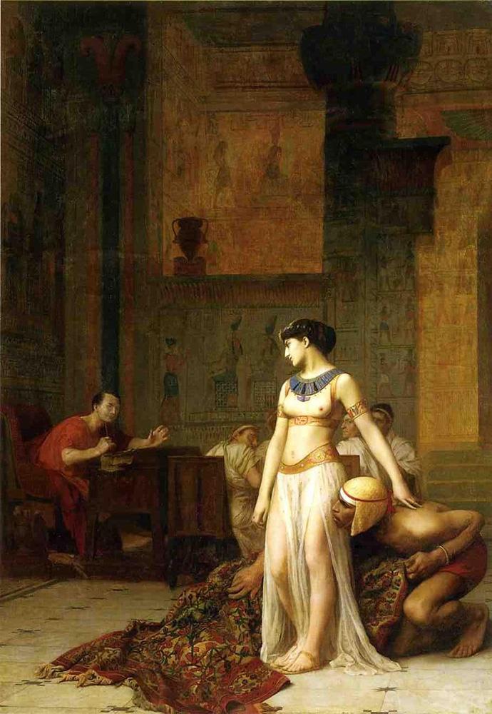 Julio César y Cleopatra por Jean-Léon Gérôme