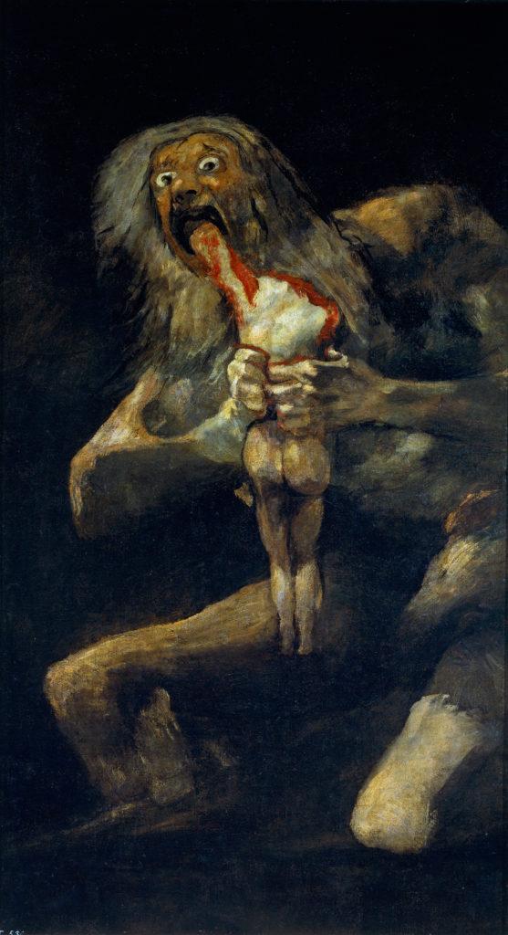 Saturno devorando a un hijo por Francisco de Goya