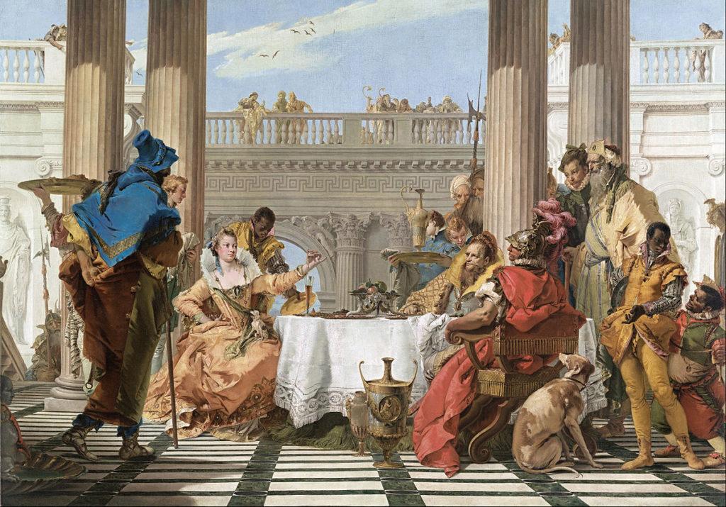 El banquete de Cleopatra por Giovanni Battista Tiepolo