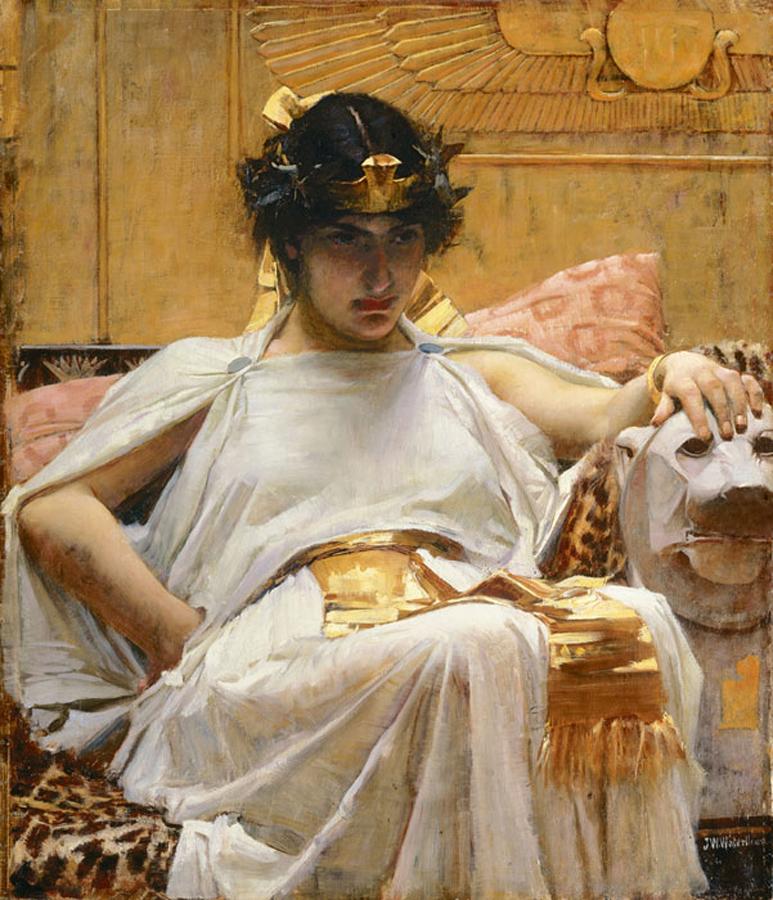 Cleopatra por John William Waterhouse