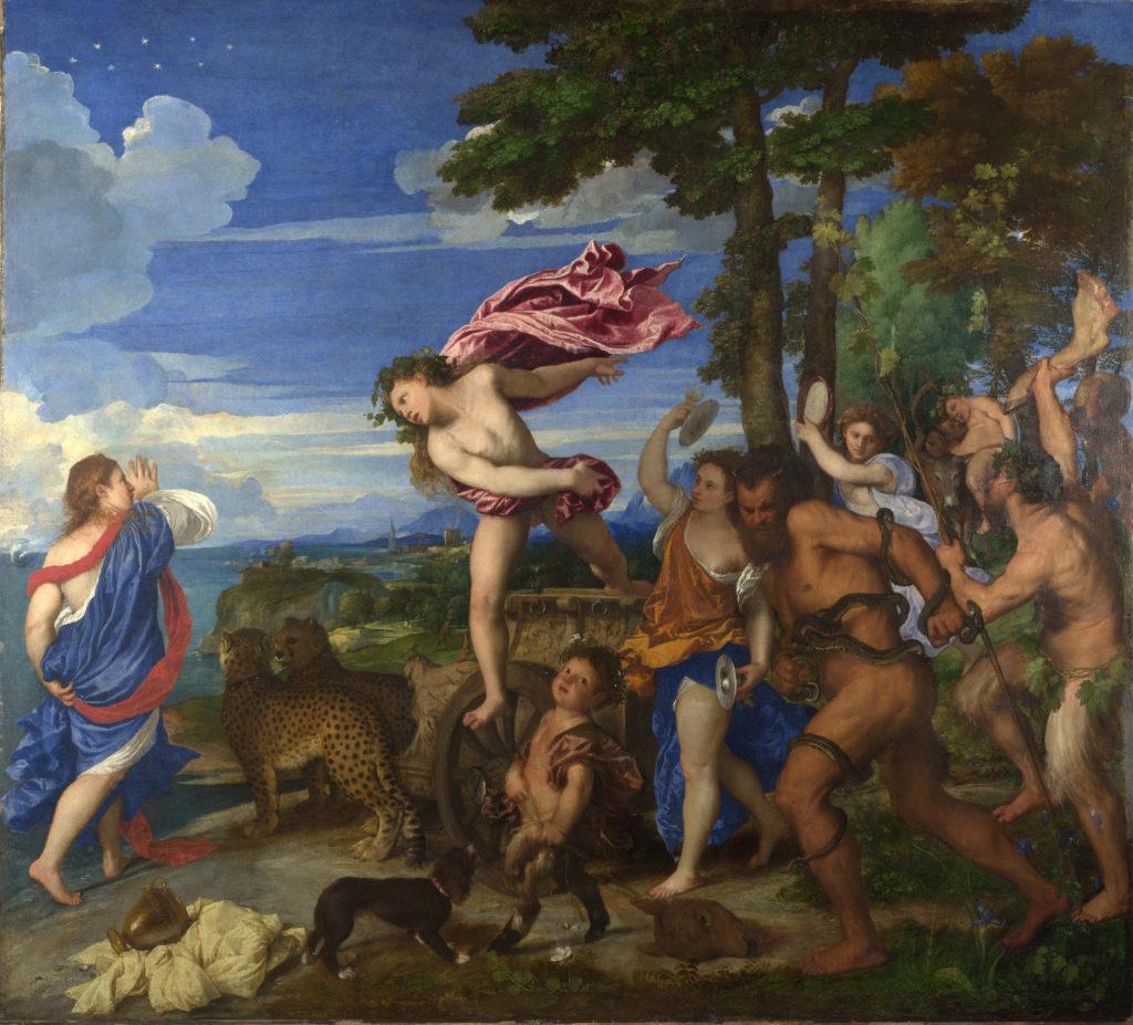 Baco y Ariadna por Tiziano