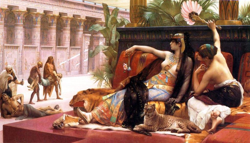 Cleopatra prueba venenos en presos condenados por Alexandre Cabanel