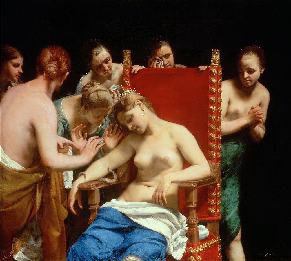 La muerte de Cleopatra por Guido Cagnacci