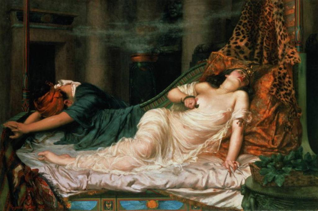 La muerte de Cleopatra por Reginald Arthur