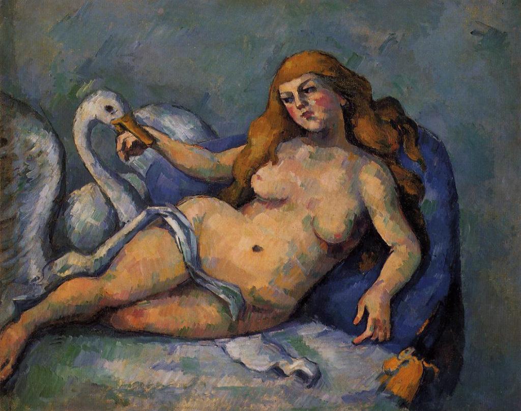 Leda y el cisne por Paul Cézanne