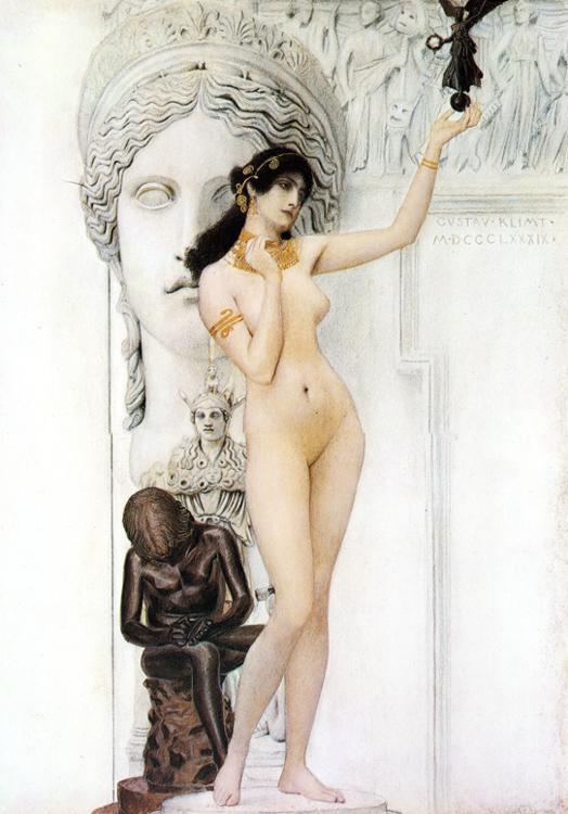 Alegoría de la escultura por Gustav Klimt