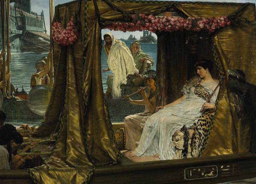 Marco Antonio y Cleopatra por Lawrence Alma-Tadema