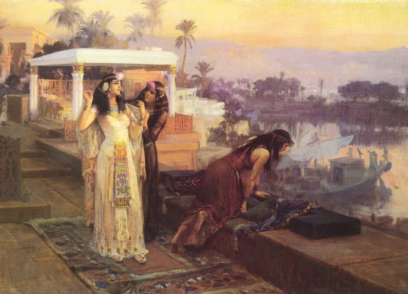 Cleopatra sobre las Terrazas de Philae por Frederick Arthur Bridgman