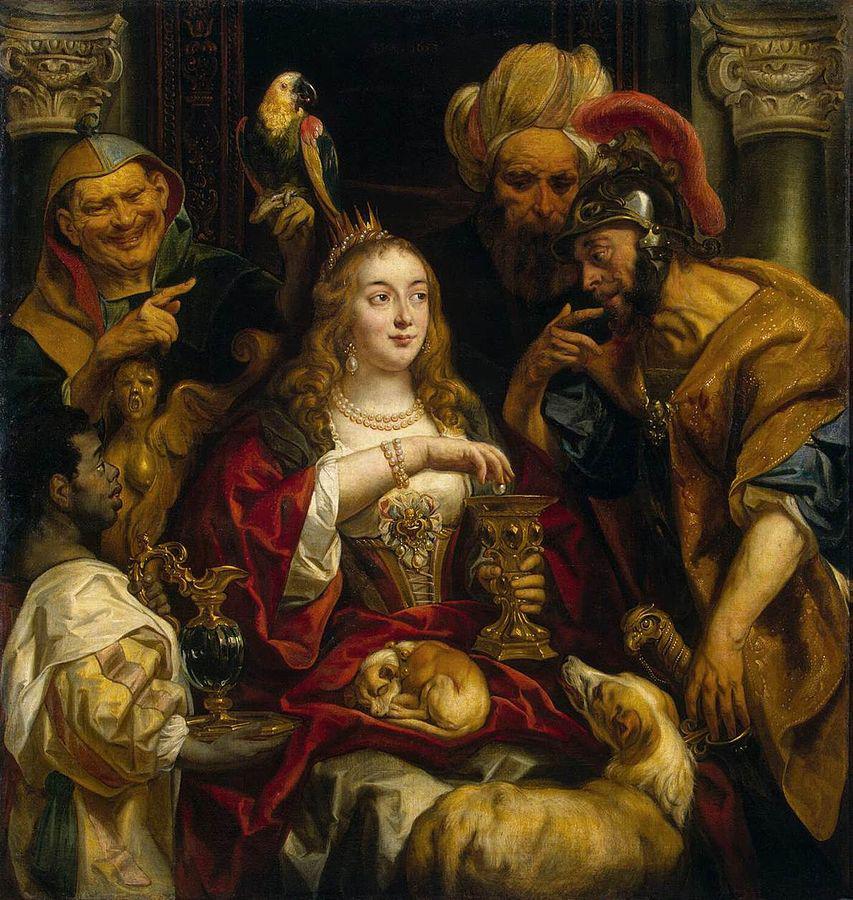 El banquete de Cleopatra por Jacob Jordaens