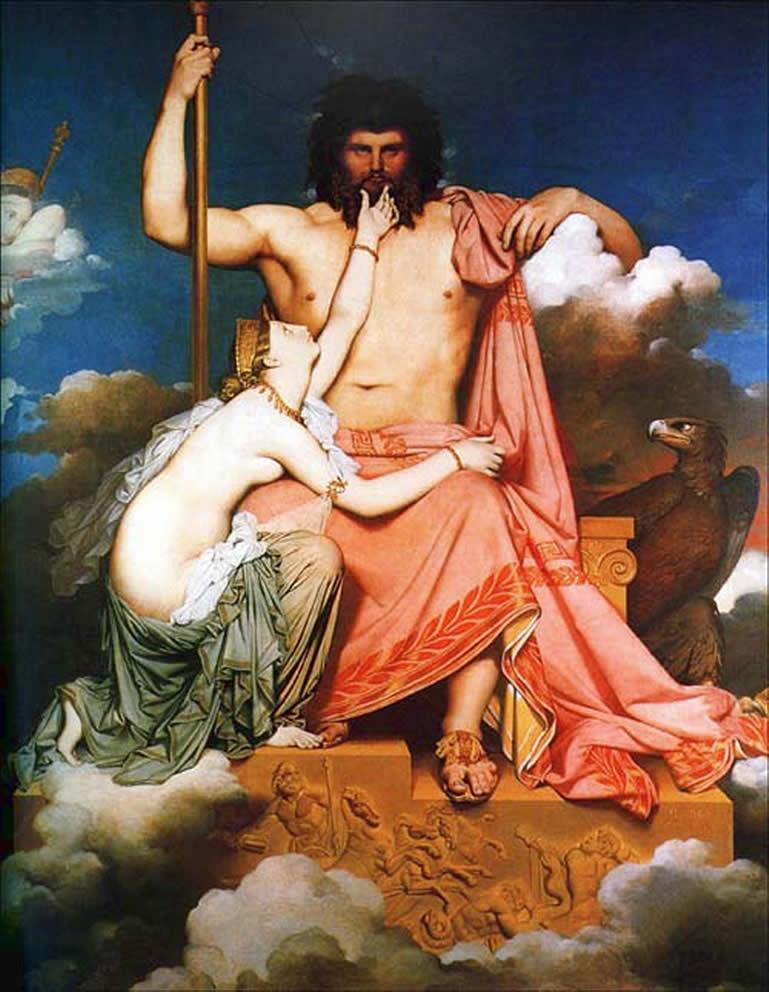 Júpiter y Tetis por Dominique Ingres