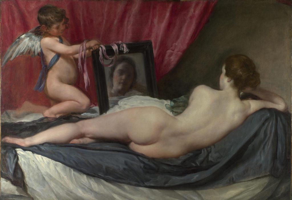 Venus del espejo por Diego Velázquez