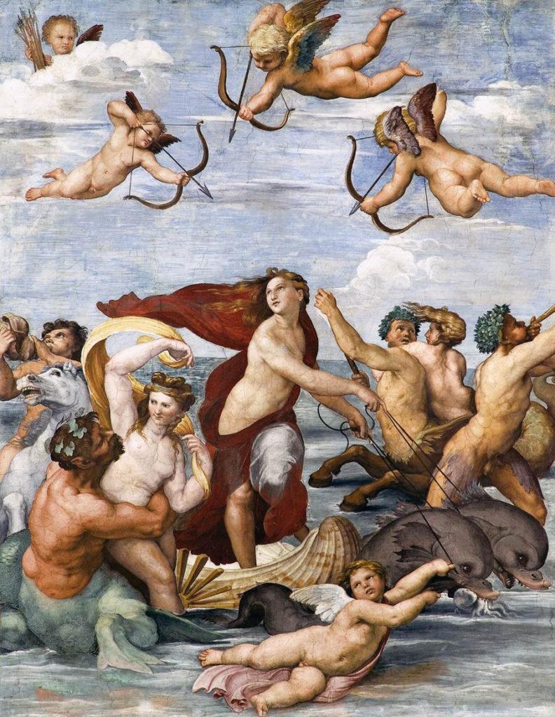 El triunfo de Galatea por Rafael (fresco en Villa Farnesina)